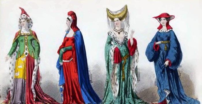 Sukienki noszone wśredniowieczu