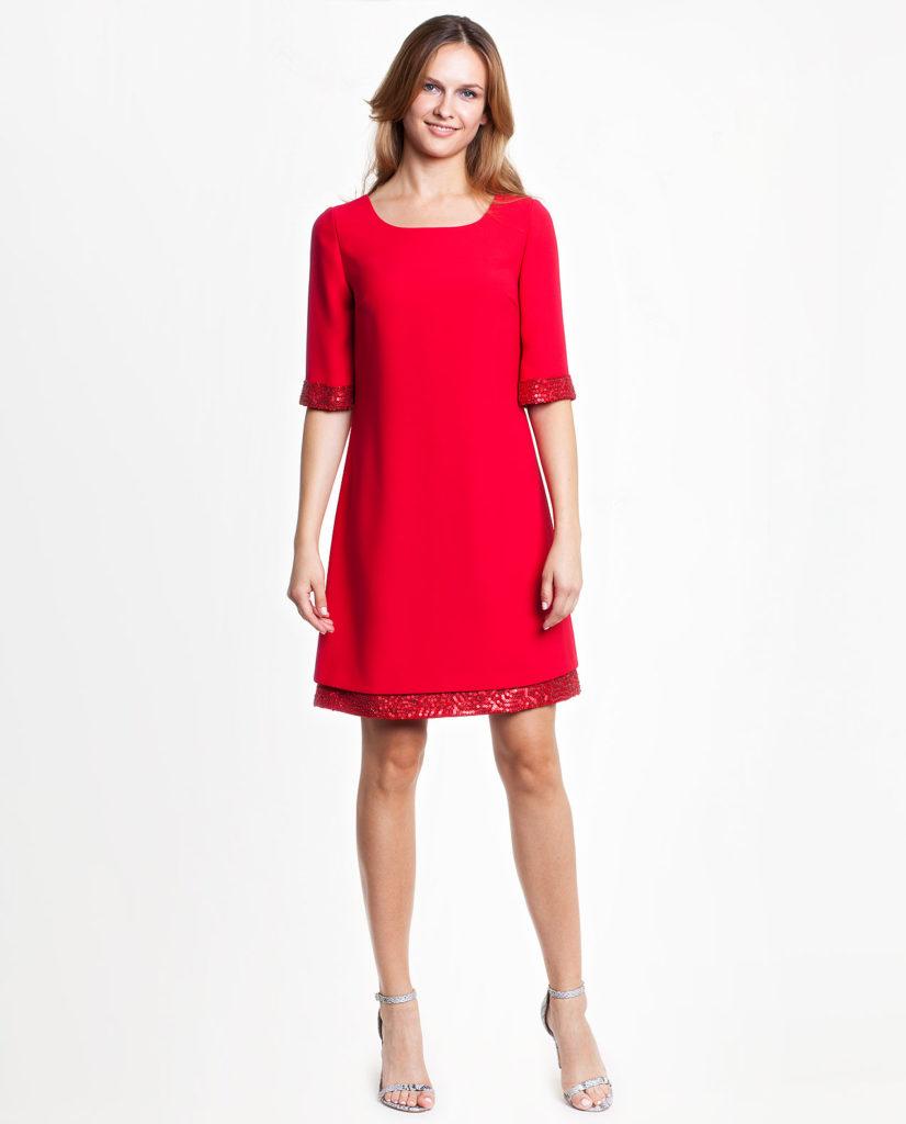 czerwona sukienka Potis&Verso