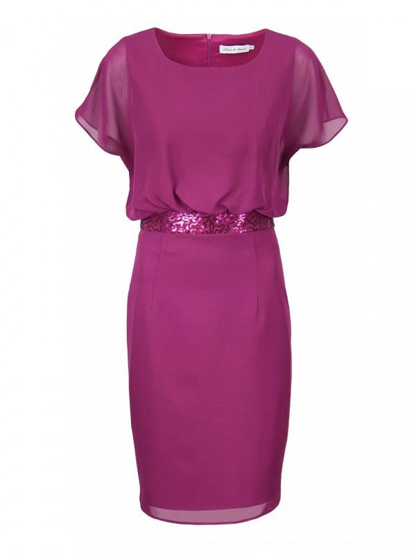 Zwiewna rubinowa sukienka LONDA odPotis&Verso