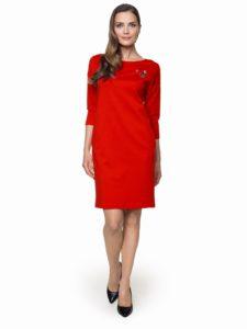 Czerwona sukienka Abin odmarki L'AF - elegancka sukienka nawyjścia inaco dzień