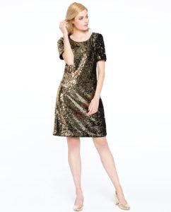 Złota sukienka Fonte Potis&Verso