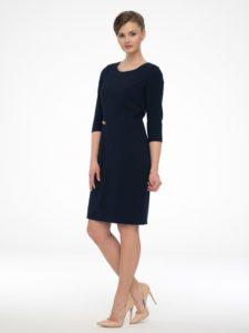 Granatowa sukienka Libero odmarki Potis&Verso - idealna sukienka dopracy