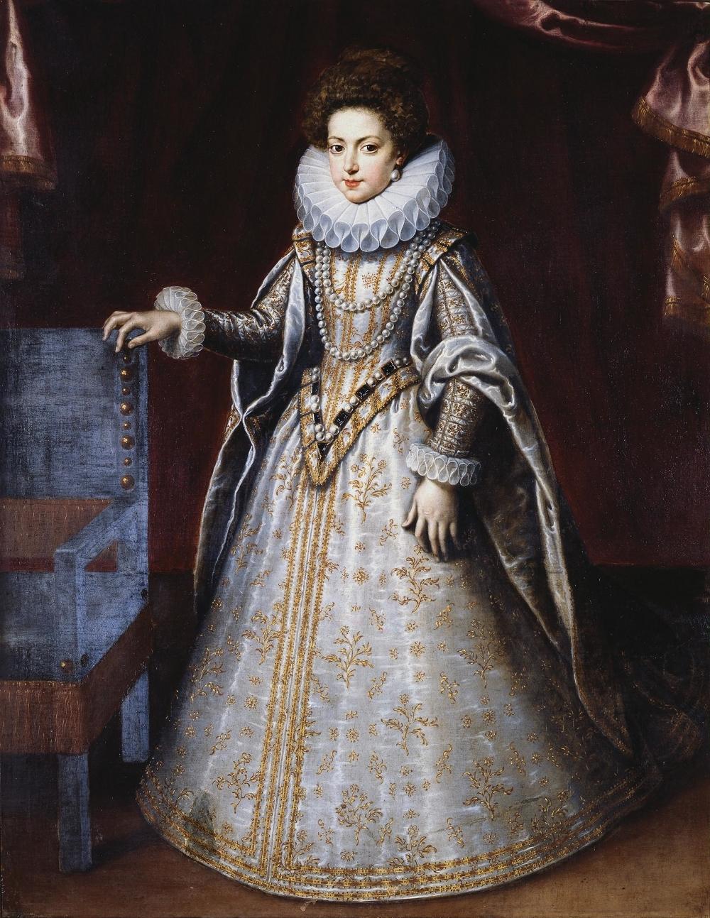 Isabel de Francia wbarokowej sukni