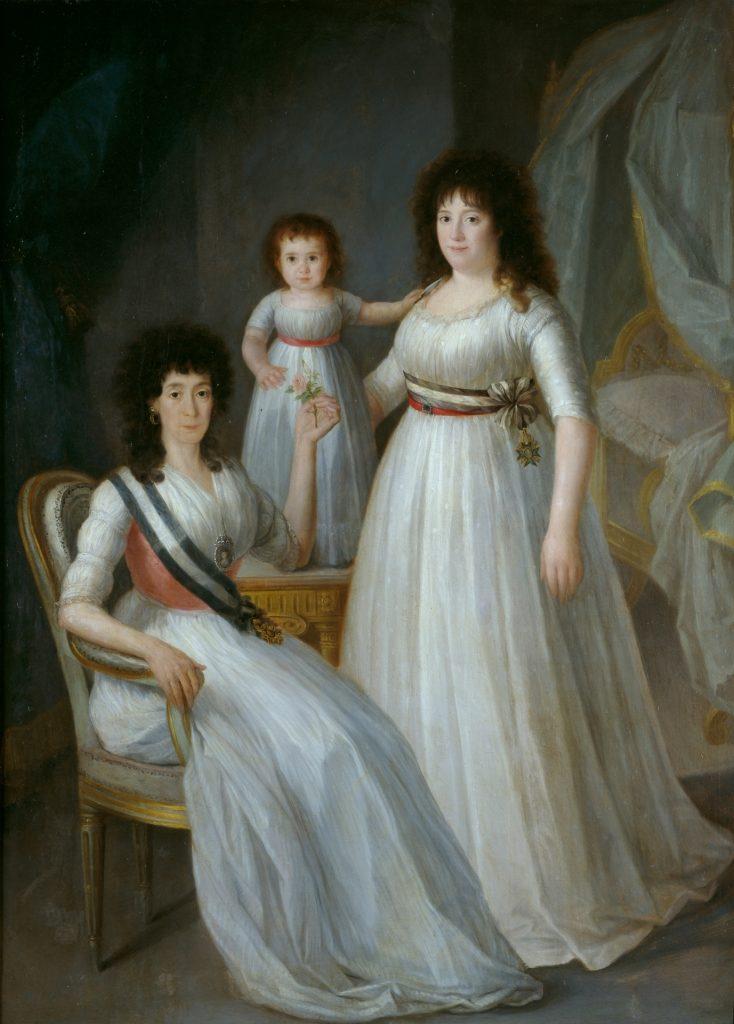 Klasycystyczna sukienka naportrecie Marii Luisy