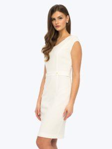 Ołówkowa sukienka Diana L'AF wkolorze białym
