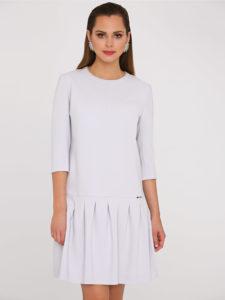 Sukienka Febe odmarki L'AF biała zluźnym dołem