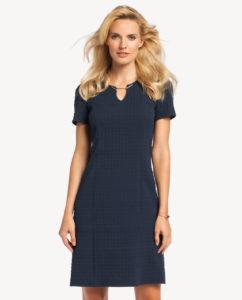 Granatowa sukienka Torina odmarki Potis&Verso - sukienka idealna dopracy inasłużbowe okazje