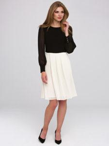 Sukienka Hemma L'AF czarno-biała