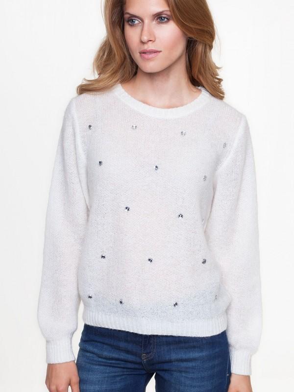 Sweterek wstylu shiny zkryształkami Swarovskiego L'AF