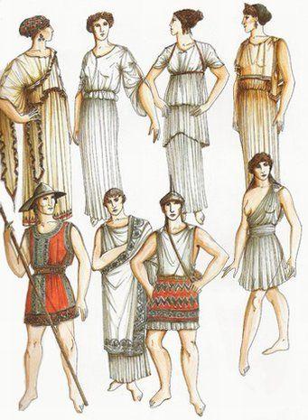 Sukienki isuknie, które noszono wstarozytności