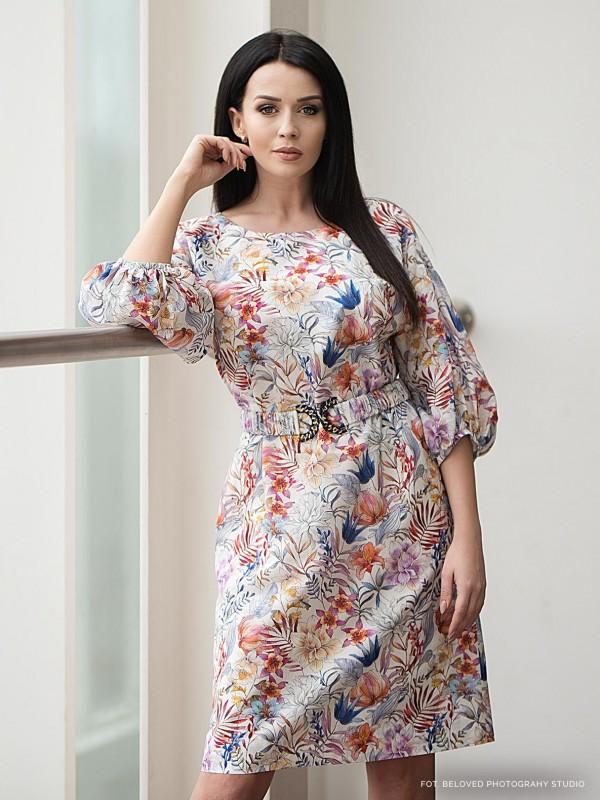 Sukienka zkwiatowym wzorem Marakuja Potis&Verso